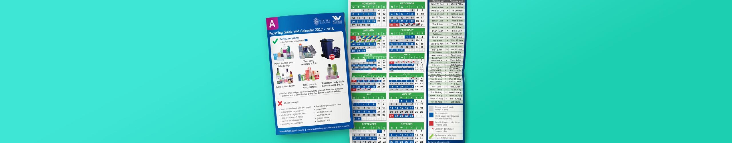 New Waste Calendar 2017 - 2018