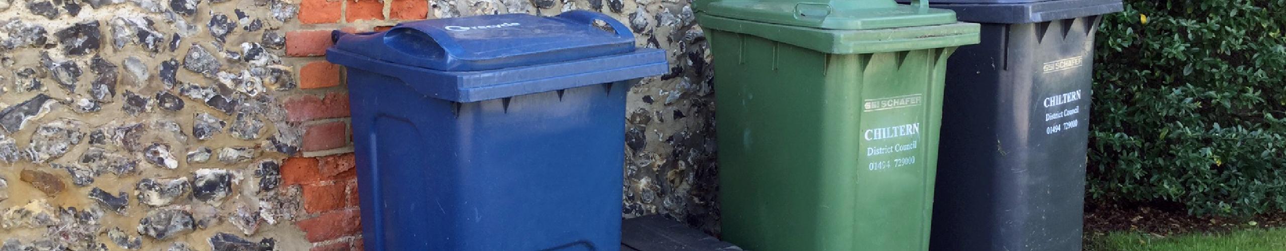 Full suite of waste bins